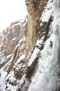 Whitemans Falls (IV, WI6, 90m), Photo by Paul Bride