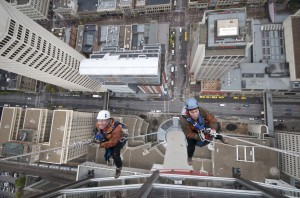 rappelling off calgary tower