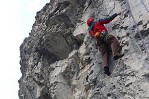 guided rock climbing in banff