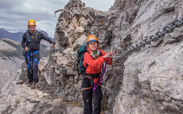 scrambling Mt Yamnuska 2