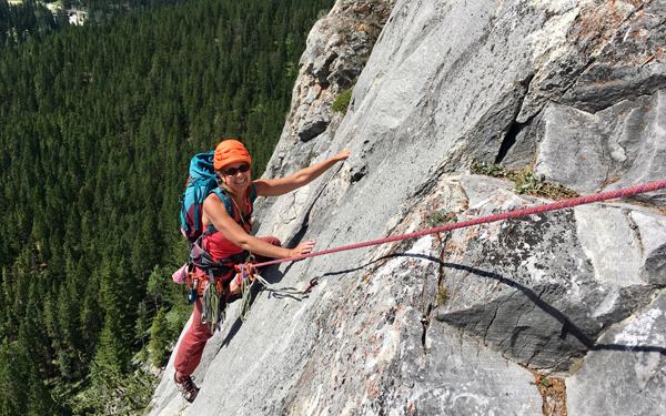 50+ multi-pitch outdoor rock climbing course in canada