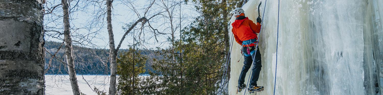 Onatio Ice Climbing