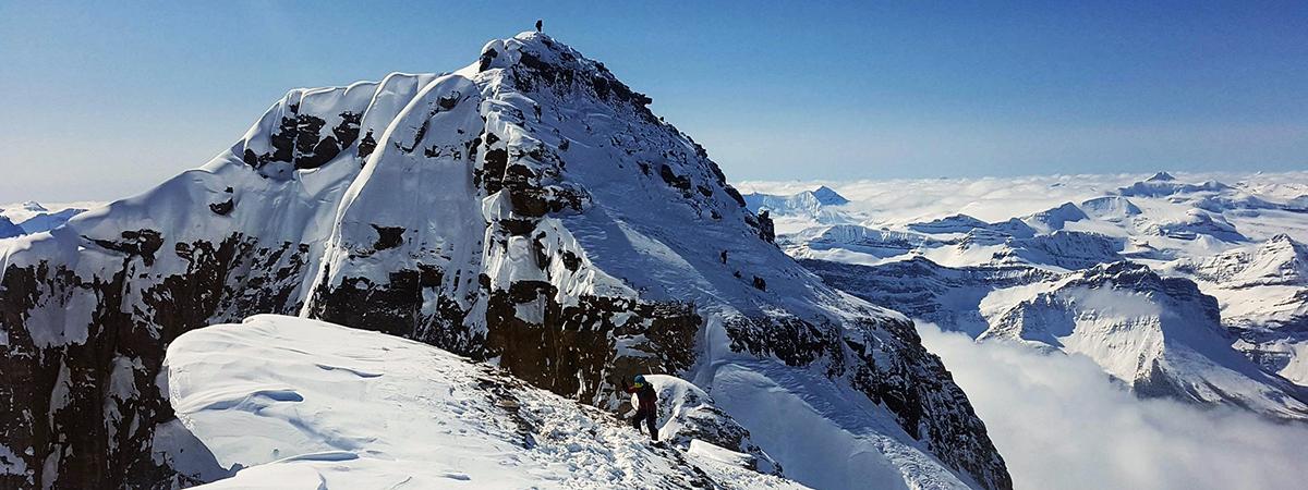 Mt Hector winter summit
